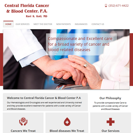 Screen shot of www.cfcancerblood.com