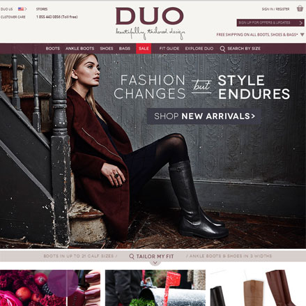 Screenshot of www.duoboots.com