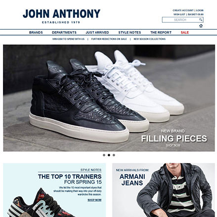 Screenshot of www.john-anthony.com