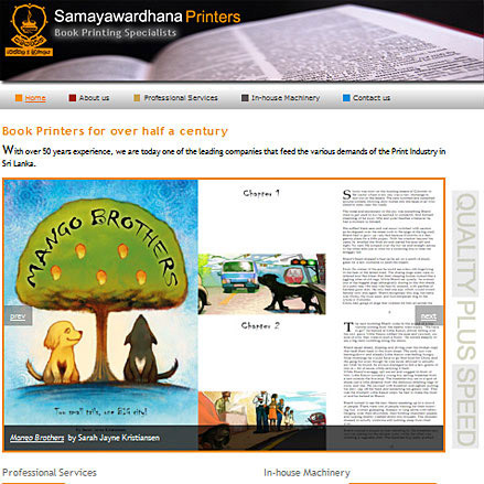 Screenshot of www.samayaprinters.com